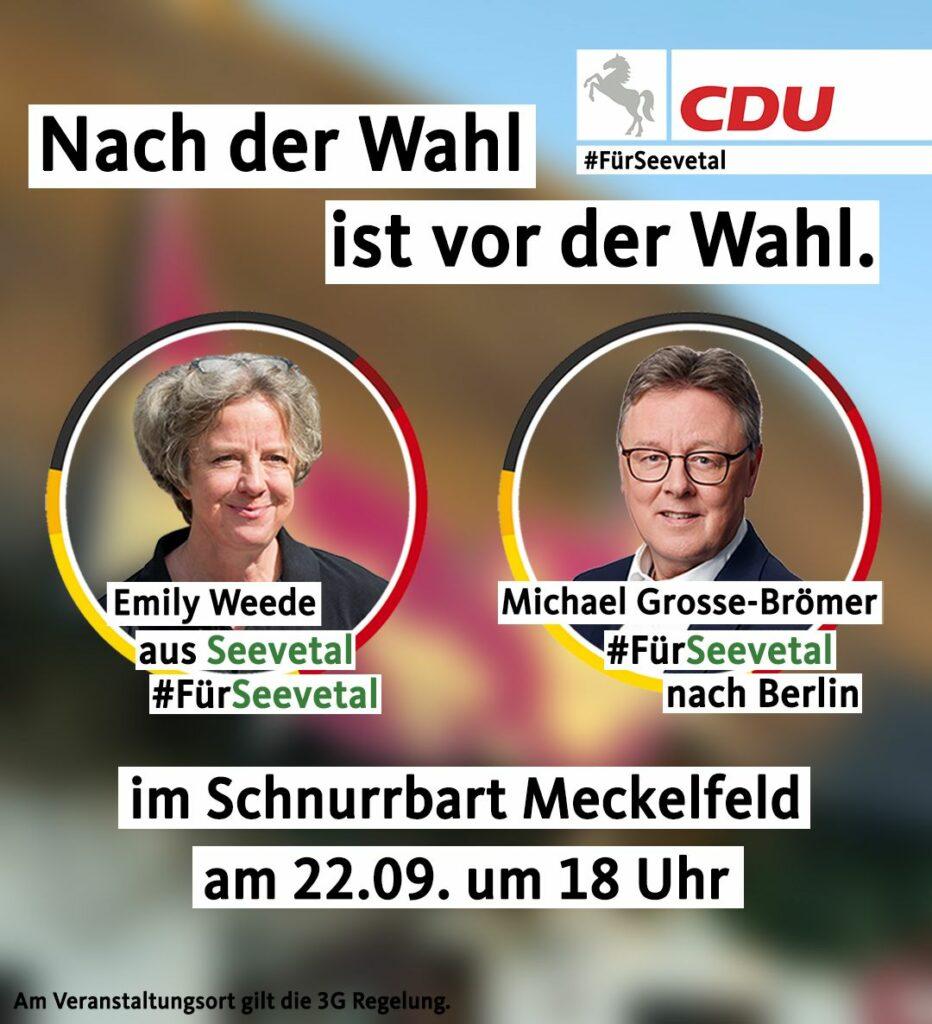 Treffen Sie Emily Weede und Michael Grosse-Brömer in Meckelfeld